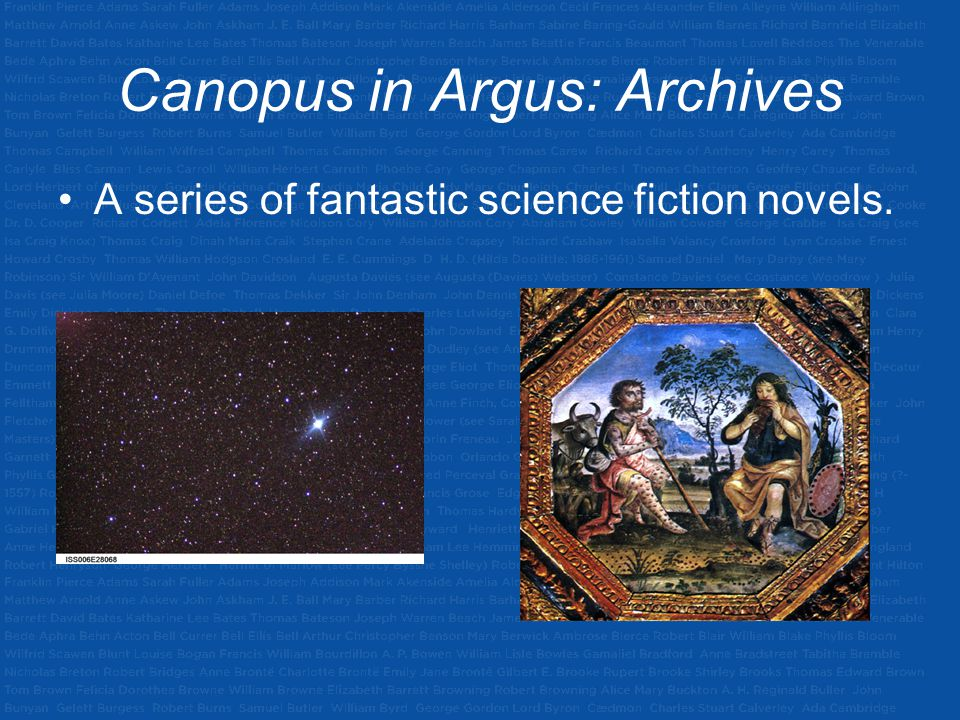 Canopus in Argus: Archives