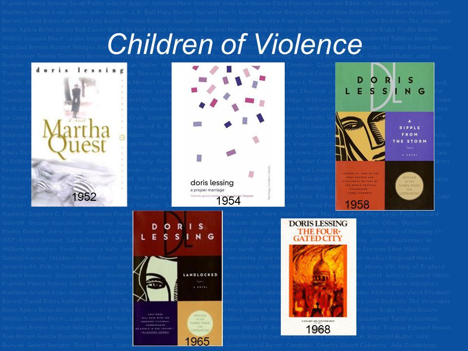 Children of Violence 1952 1954 1958 1968 1965