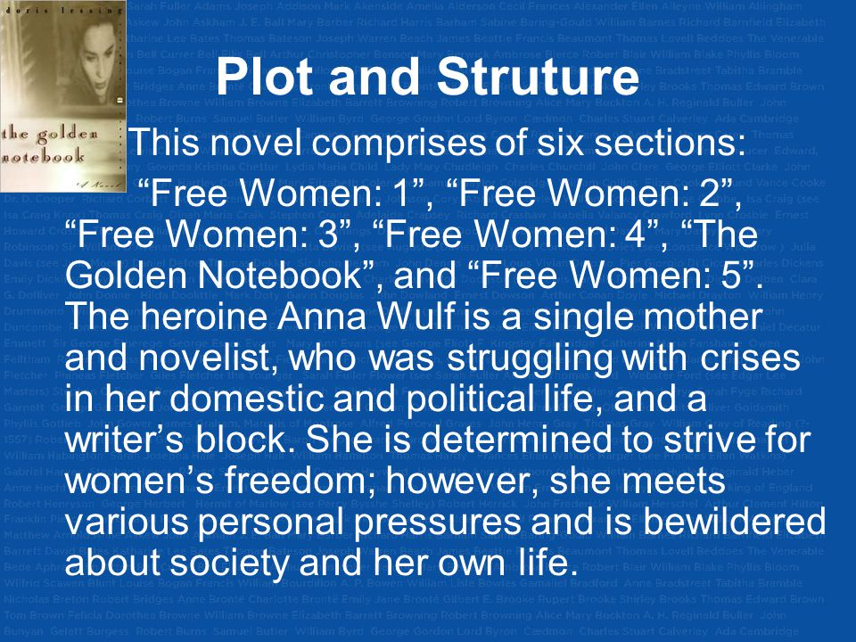 Plot and Struture This novel comprises of six sections: