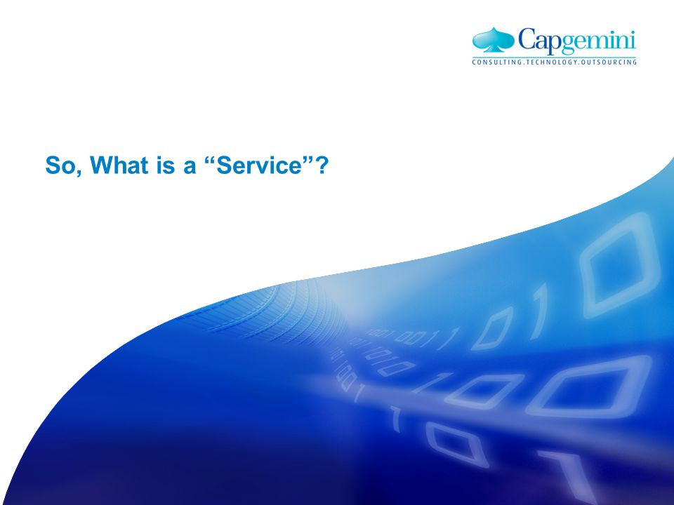 A Service is both a strategy, design and planning approach, and implementable technology