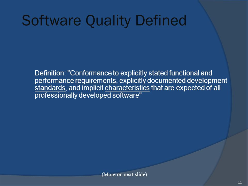 Software Quality Defined