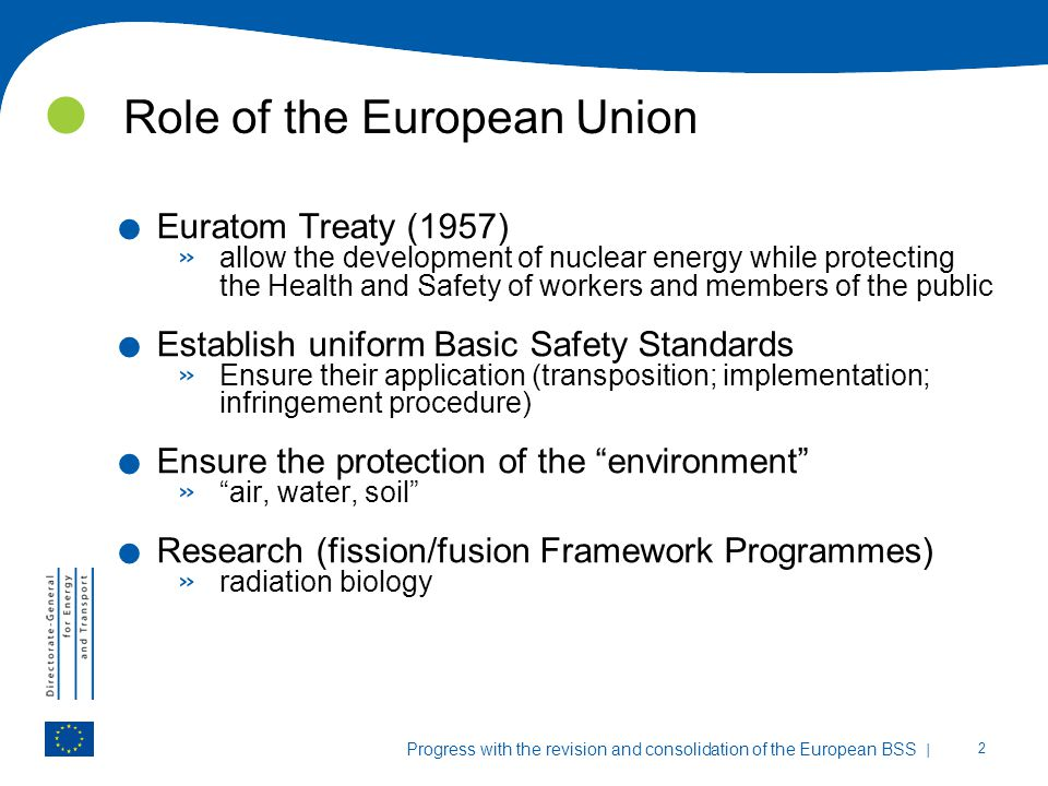 Role of the European Union