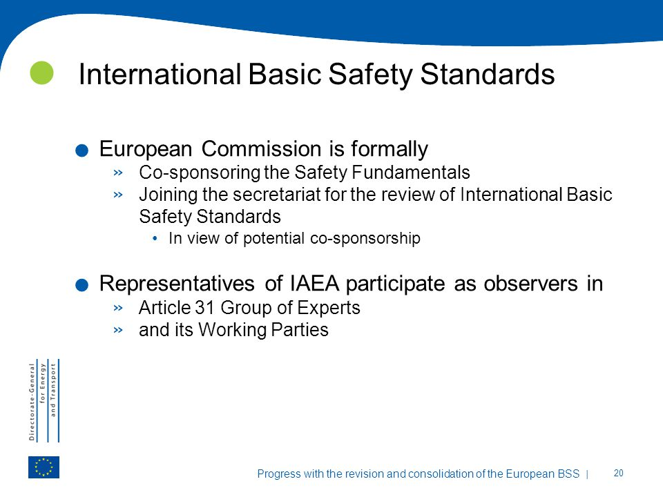 International Basic Safety Standards