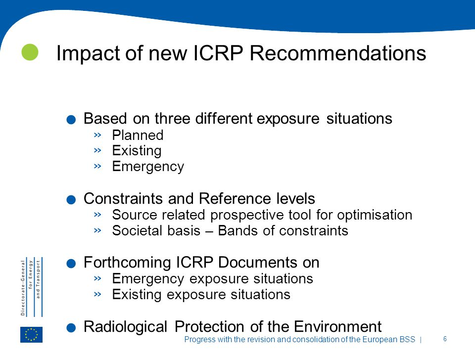 Impact of new ICRP Recommendations