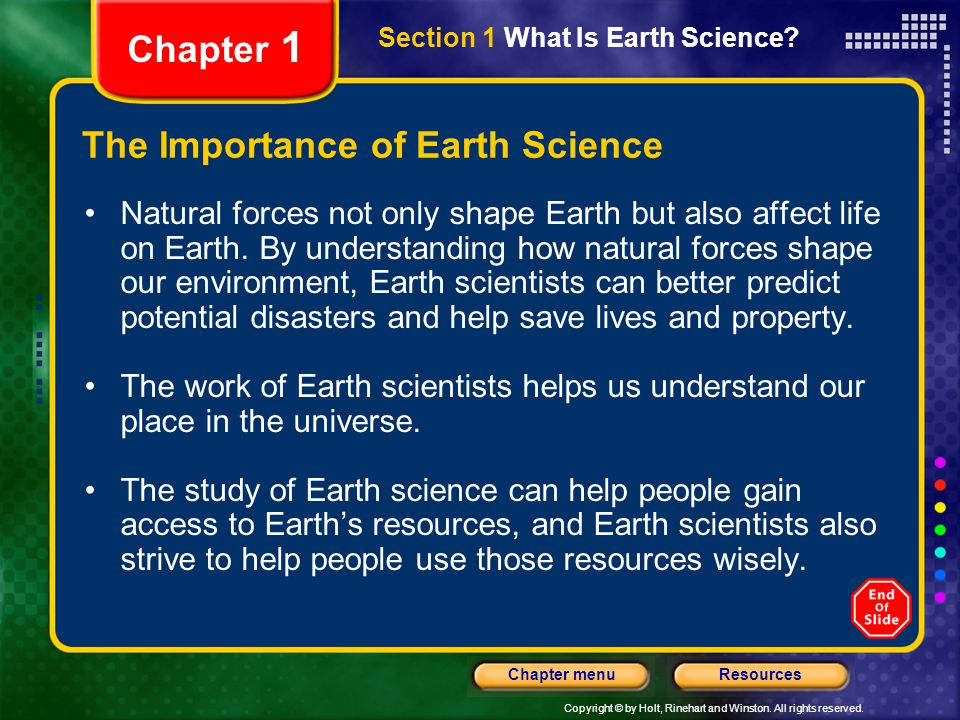 The Importance of Earth Science