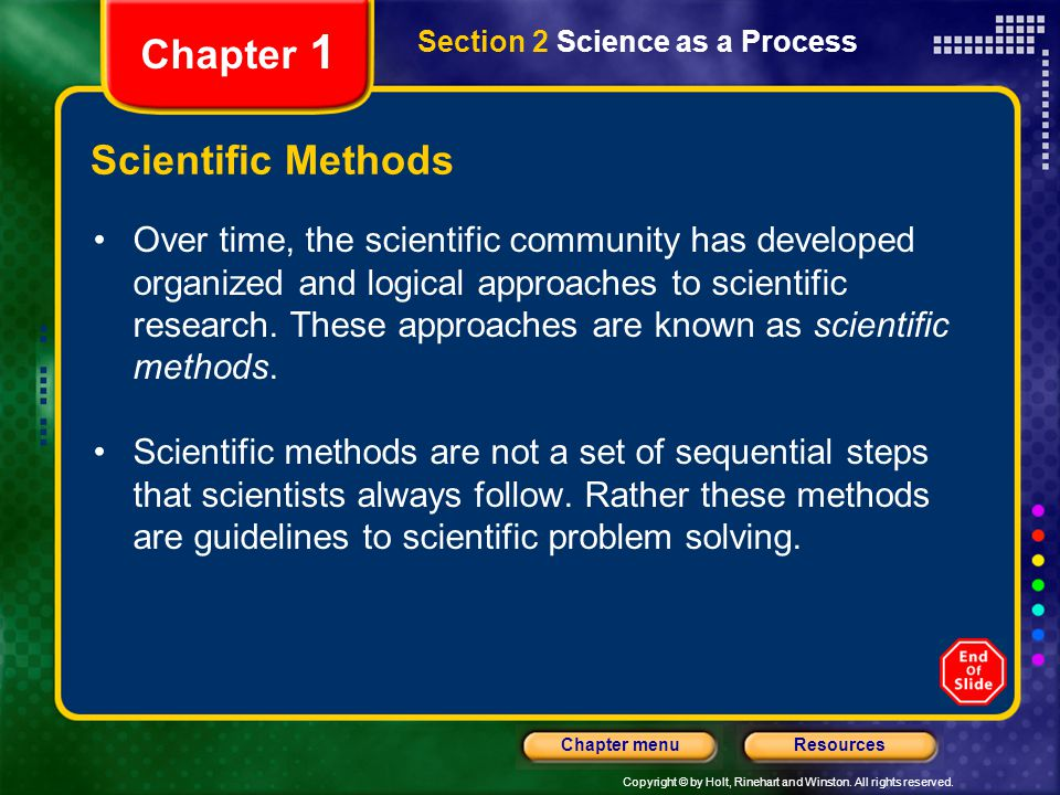 Chapter 1 Scientific Methods