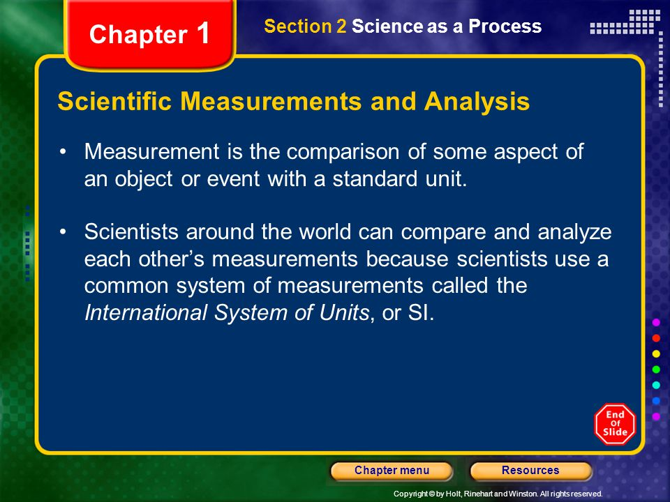 Scientific Measurements and Analysis