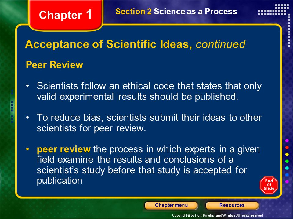 Acceptance of Scientific Ideas, continued