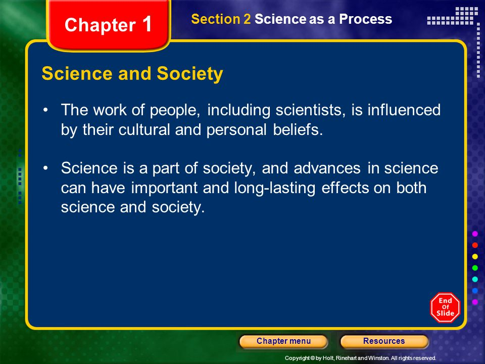 Chapter 1 Science and Society