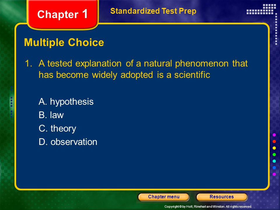 Chapter 1 Multiple Choice