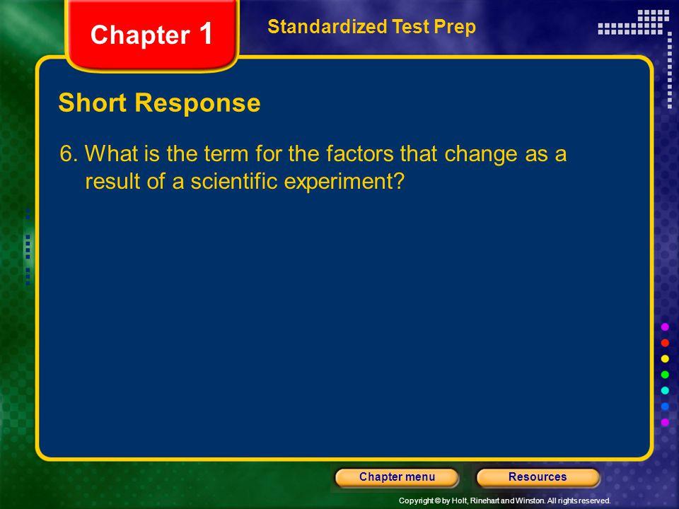 Chapter 1 Short Response