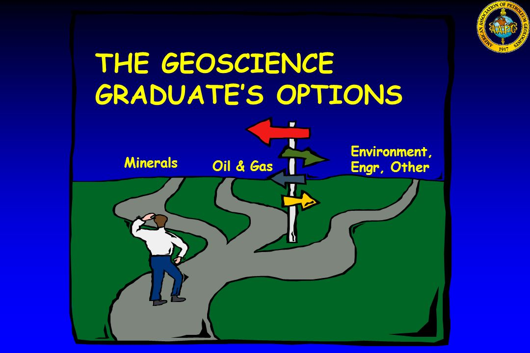 THE GEOSCIENCE GRADUATE'S OPTIONS