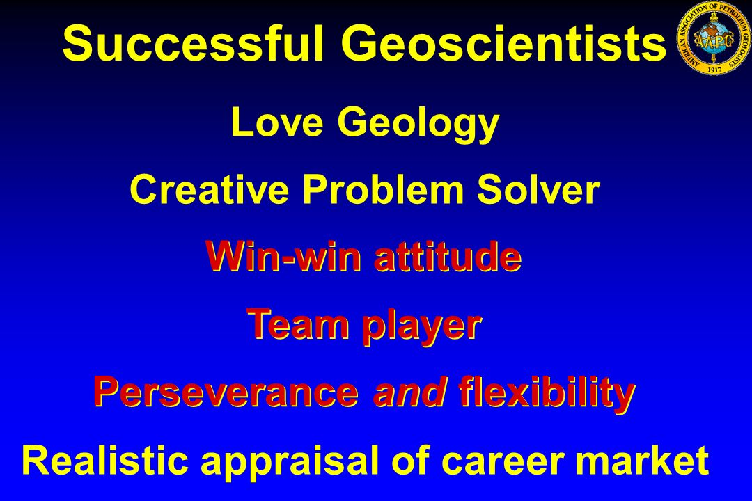 Successful Geoscientists