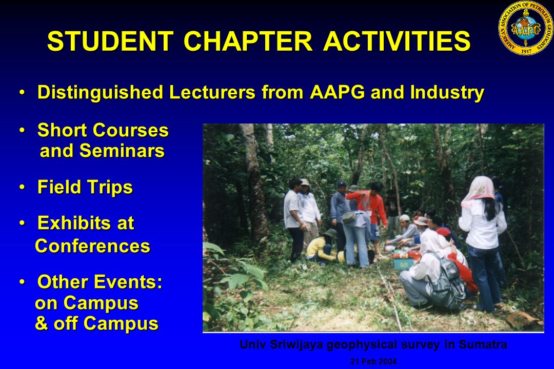 STUDENT CHAPTER ACTIVITIES