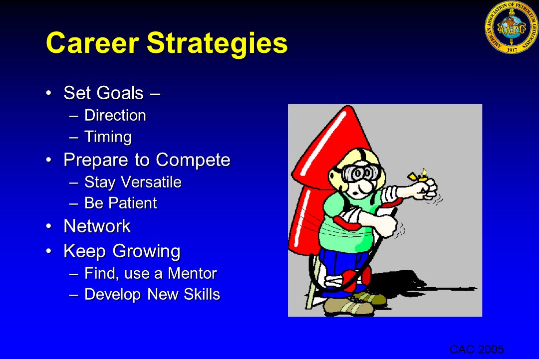 Career Strategies Set Goals – Prepare to Compete Network Keep Growing