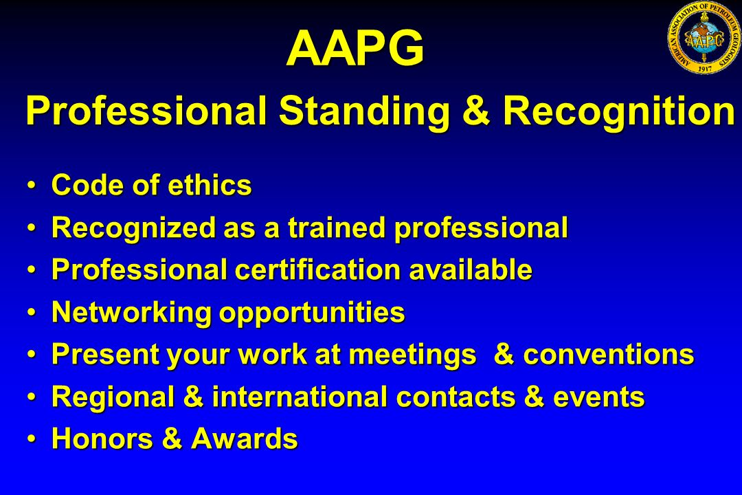 Professional Standing & Recognition