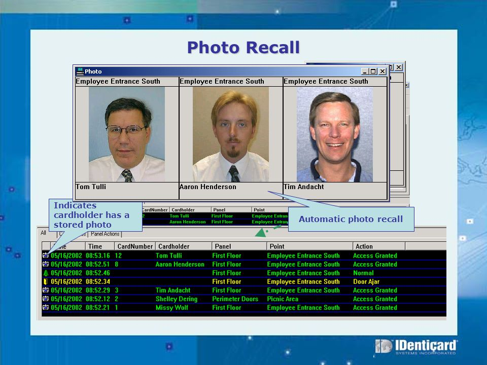 Automatic photo recall