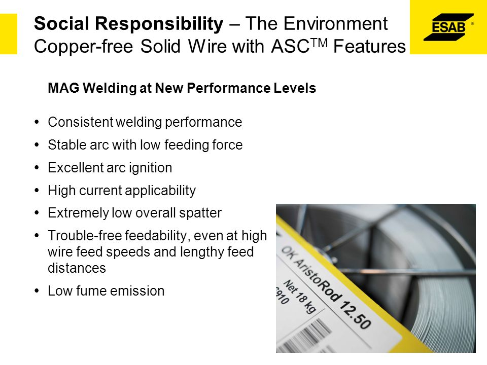 Social Responsibility – The Environment Copper-free Solid Wire with ASCTM Features