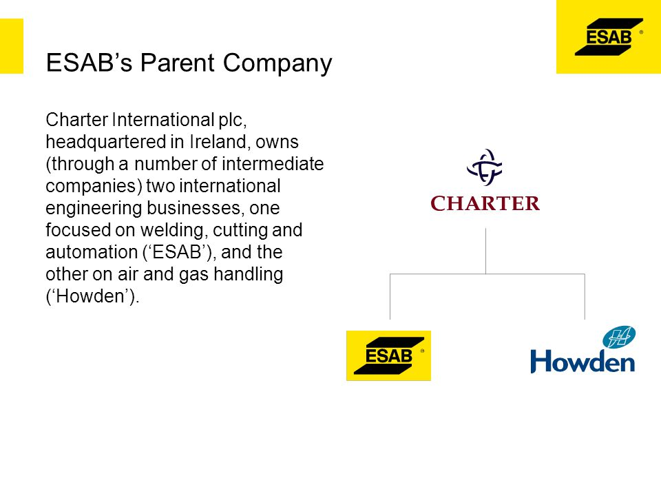 ESAB's Parent Company