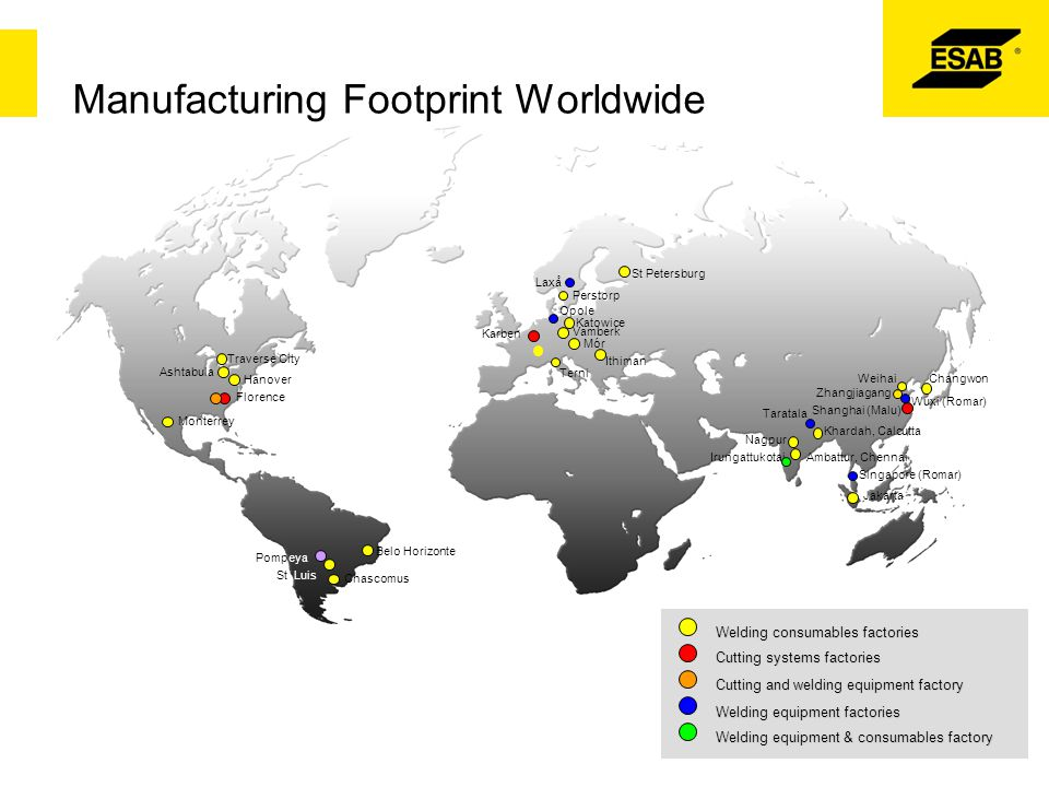Manufacturing Footprint Worldwide