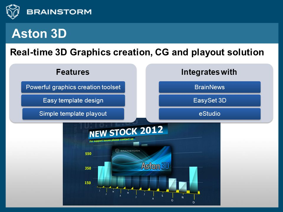 Aston 3D Real-time 3D Graphics creation, CG and playout solution