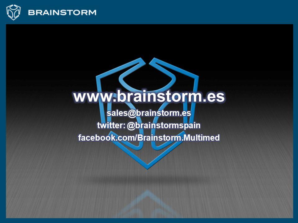 twitter: @brainstormspain facebook.com/Brainstorm.Multimed
