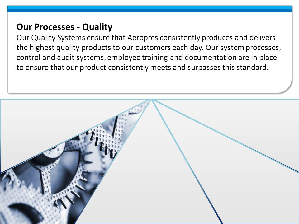 Our Processes - Quality