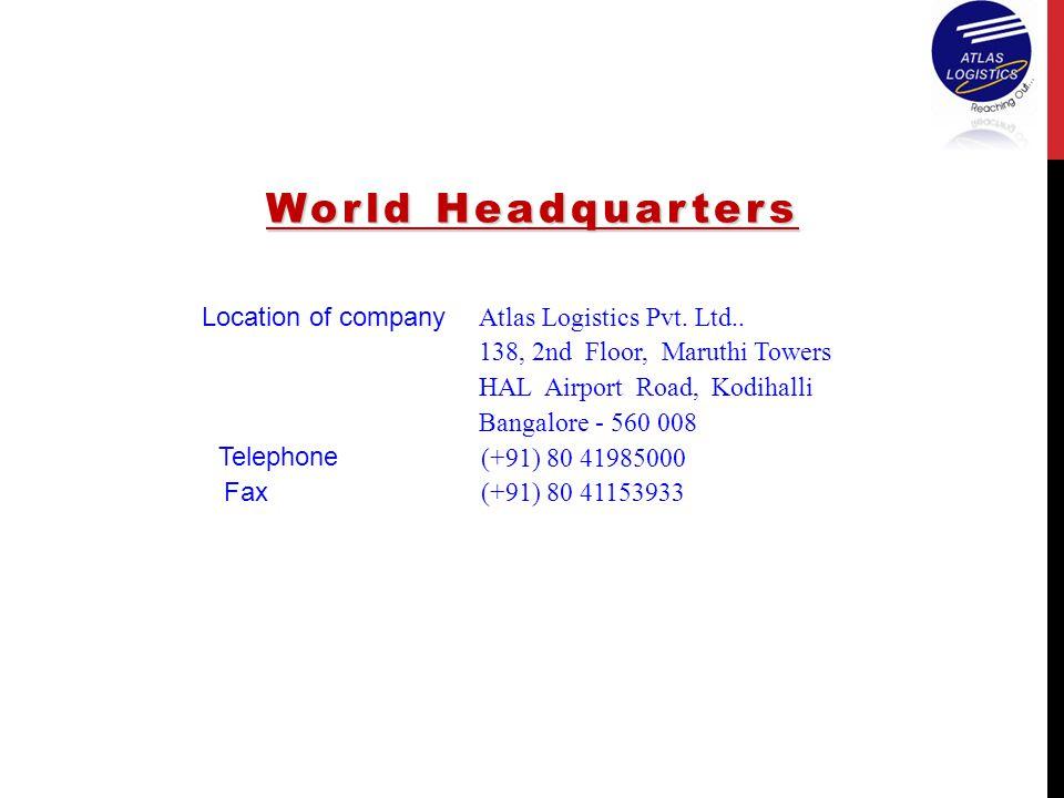 World Headquarters Location of company Atlas Logistics Pvt. Ltd..