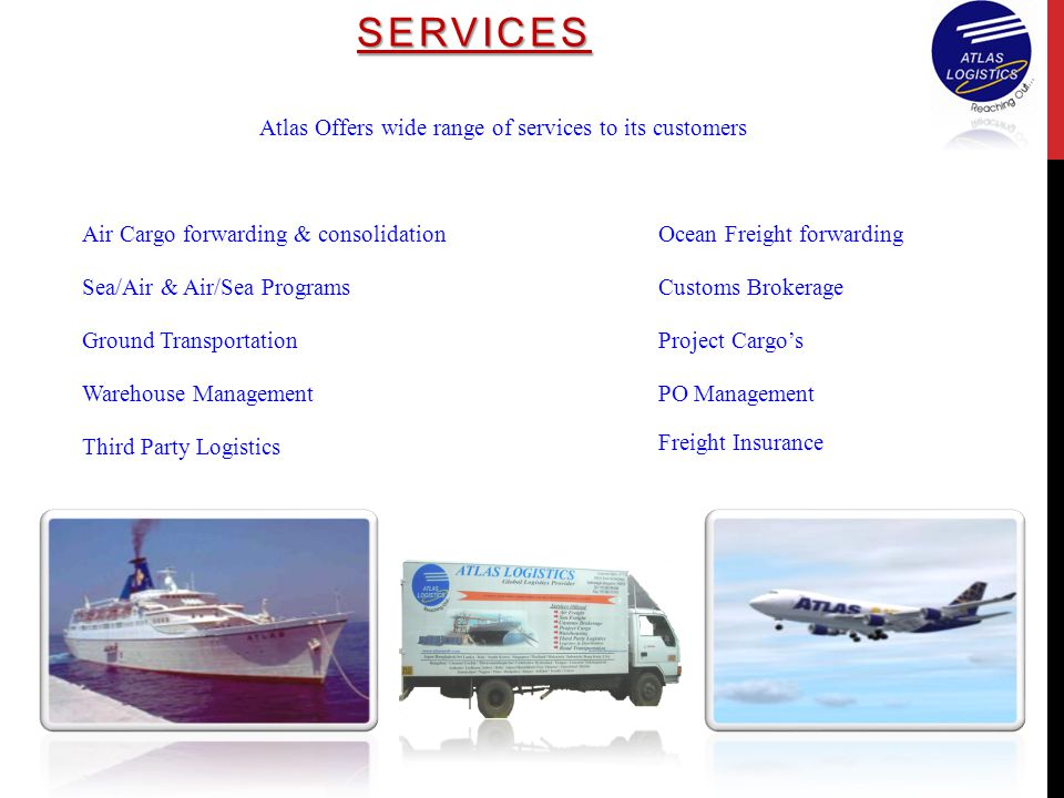 SERVICES Atlas Offers wide range of services to its customers