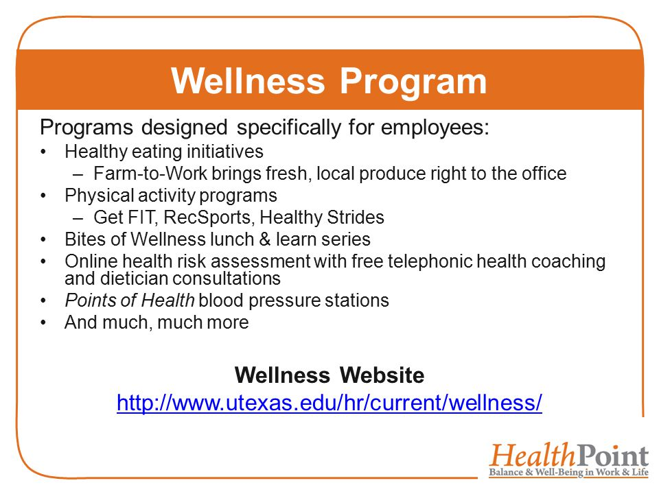 Wellness Program Wellness Website