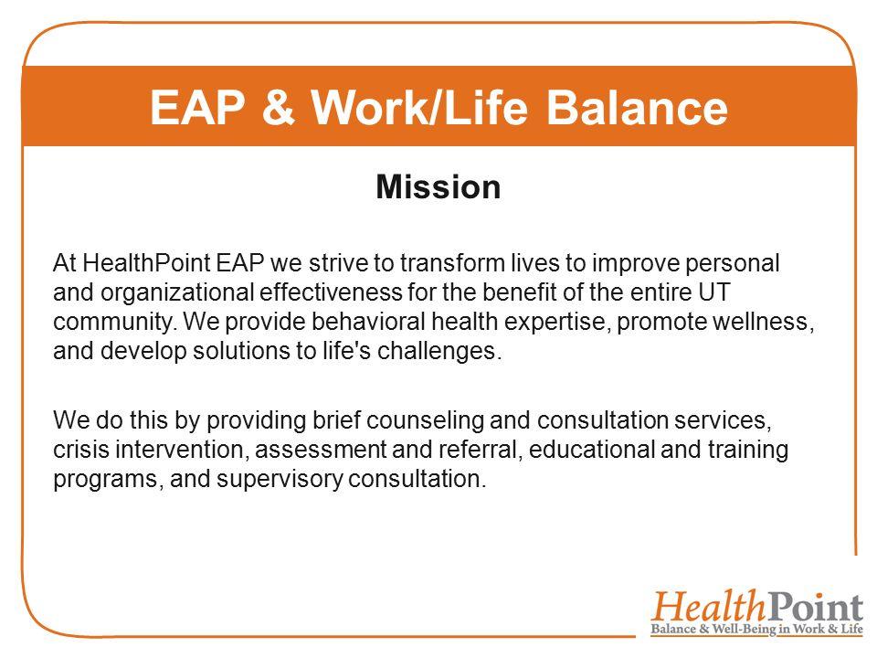 EAP & Work/Life Balance