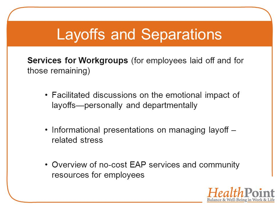 Layoffs and Separations