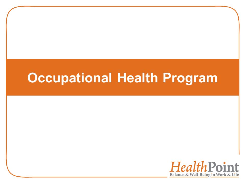 Occupational Health Program