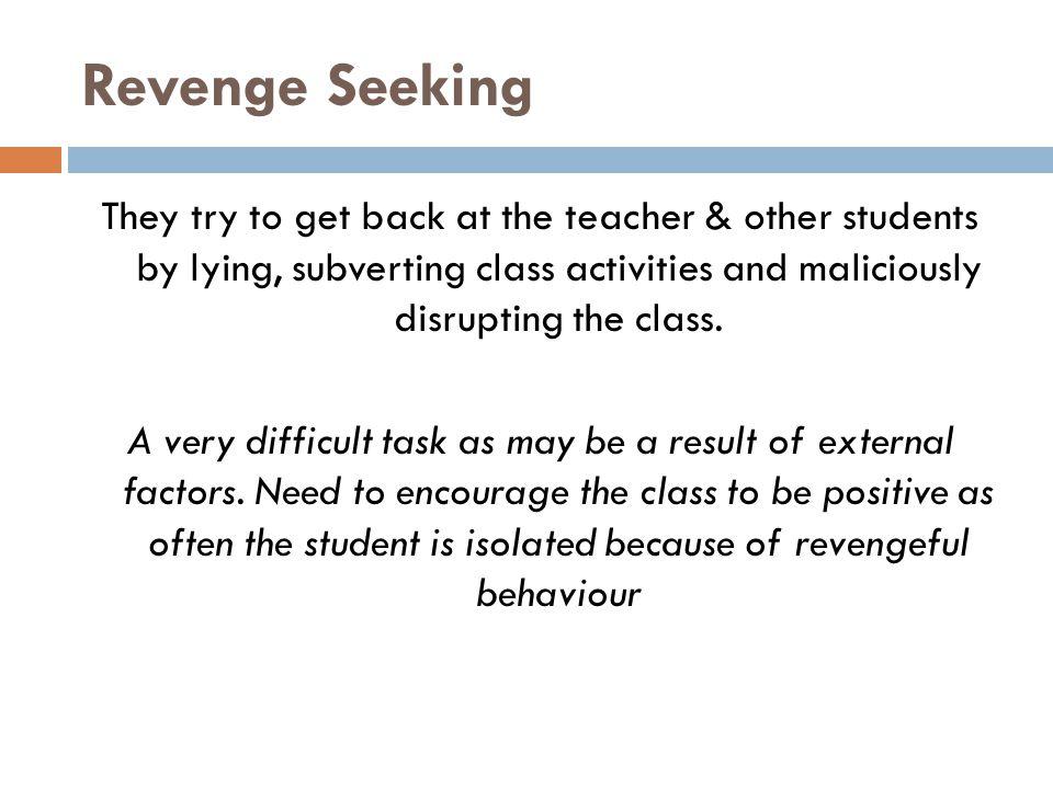 Revenge Seeking
