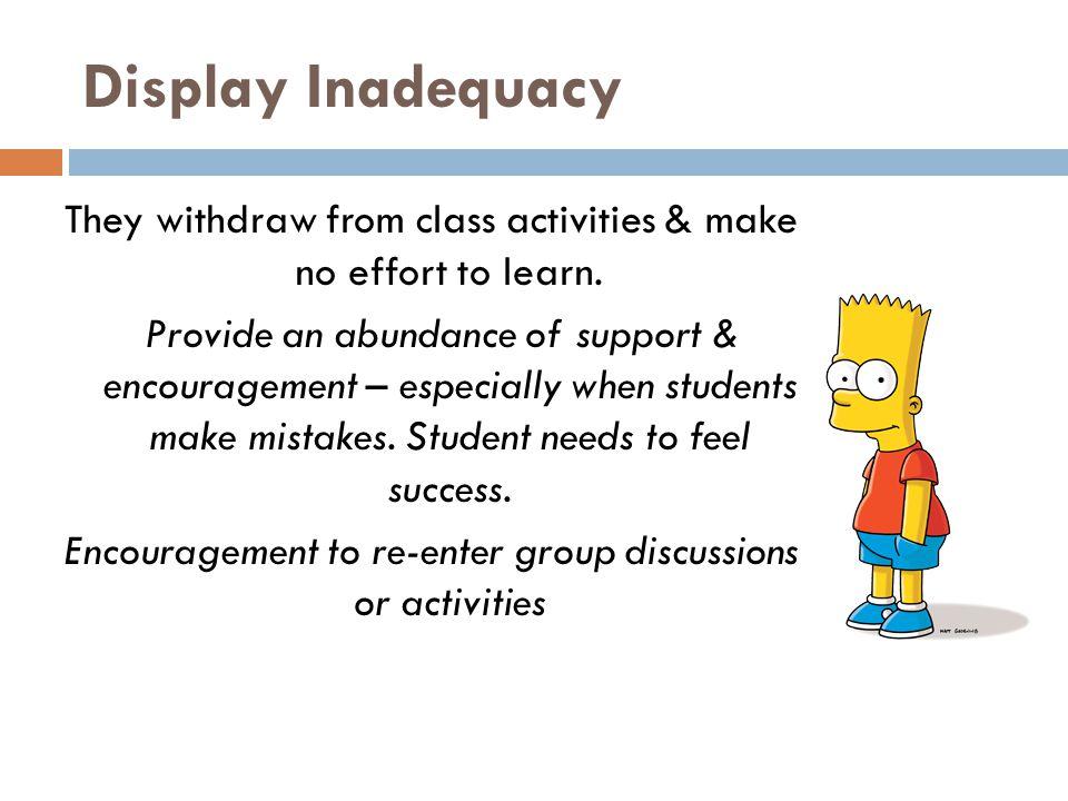 Display Inadequacy