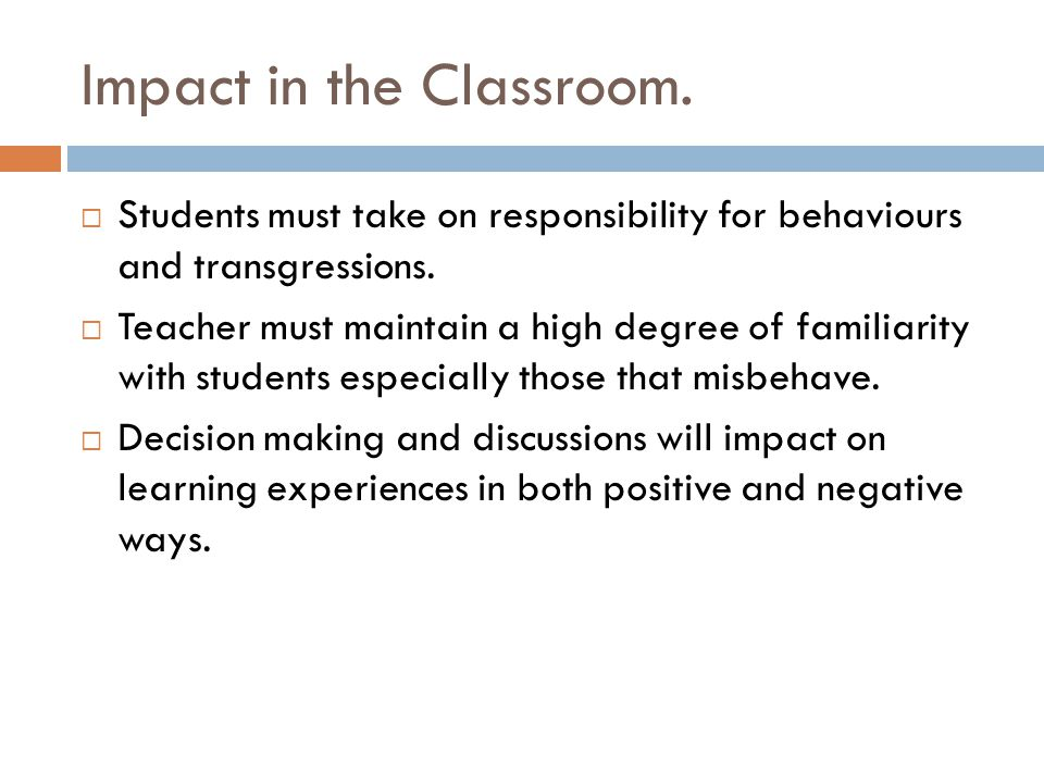 Impact in the Classroom.