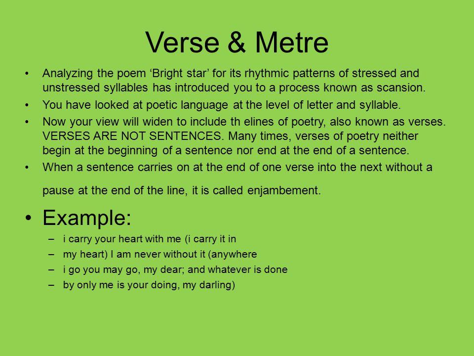 Verse & Metre