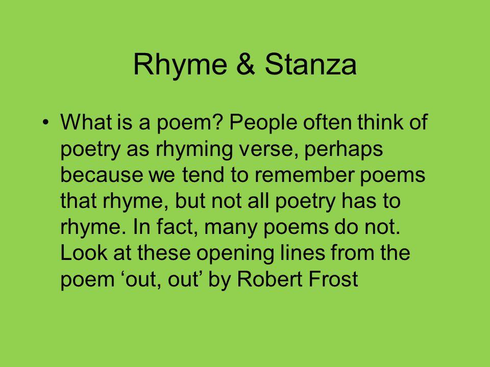 Rhyme & Stanza