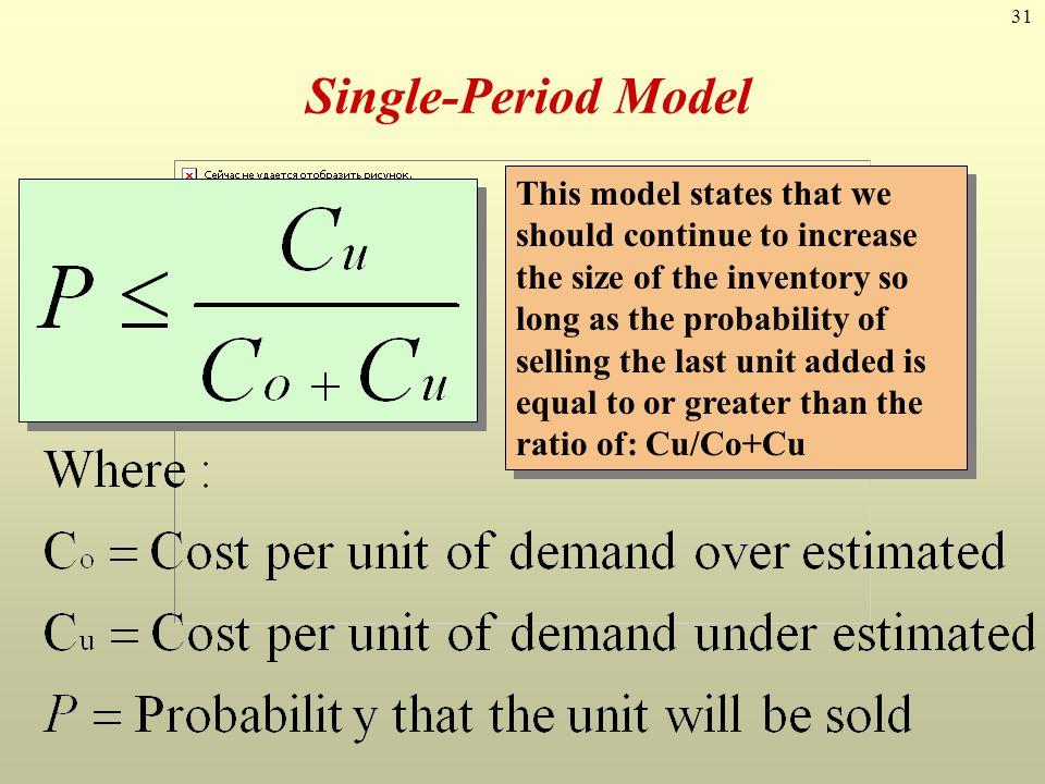 Single-Period Model