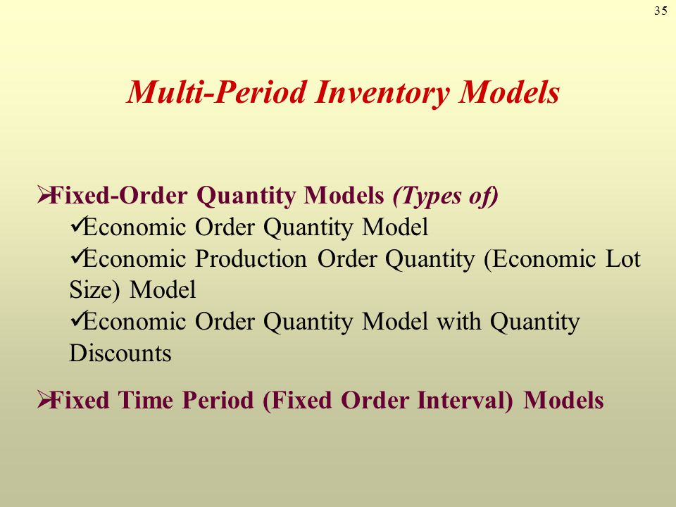 Multi-Period Inventory Models