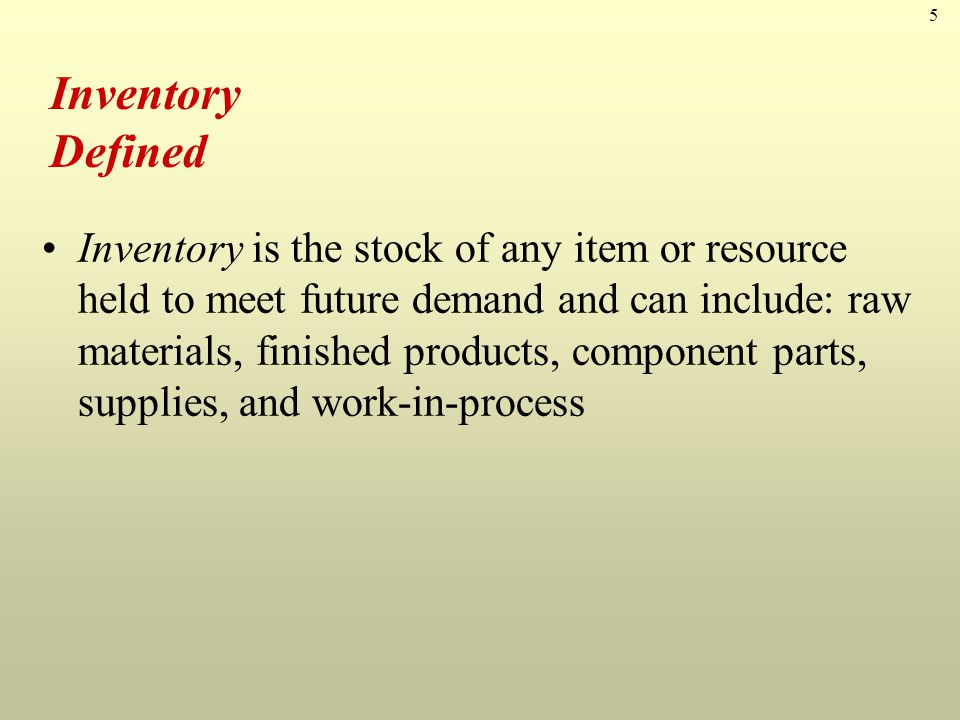 Inventory Defined
