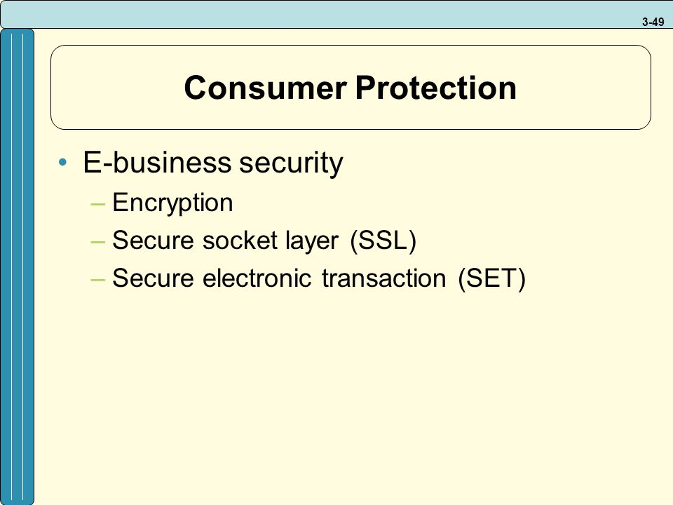 Consumer Protection E-business security Encryption