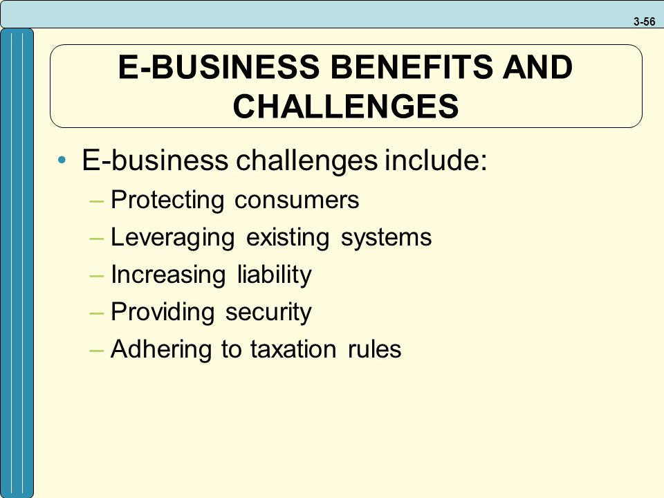 E-BUSINESS BENEFITS AND CHALLENGES