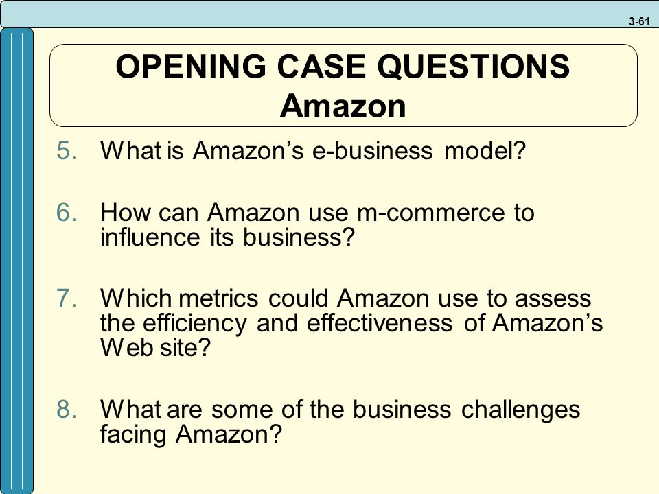 OPENING CASE QUESTIONS Amazon