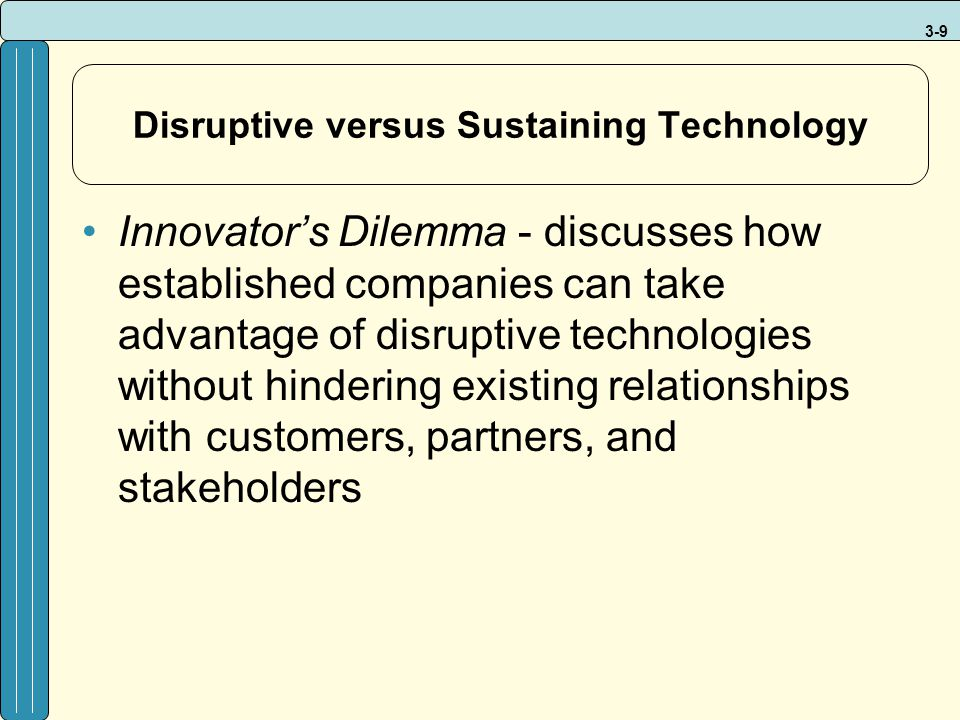 Disruptive versus Sustaining Technology