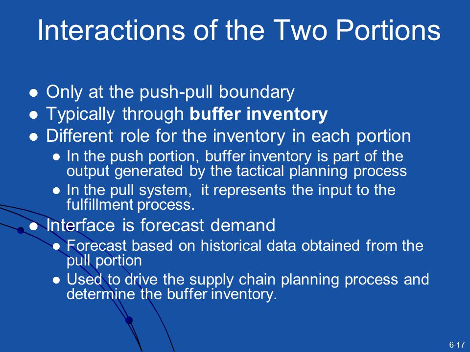 Interactions of the Two Portions
