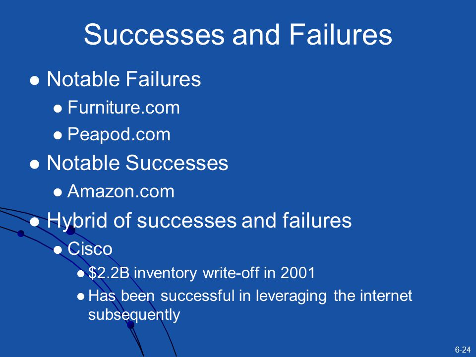 Successes and Failures
