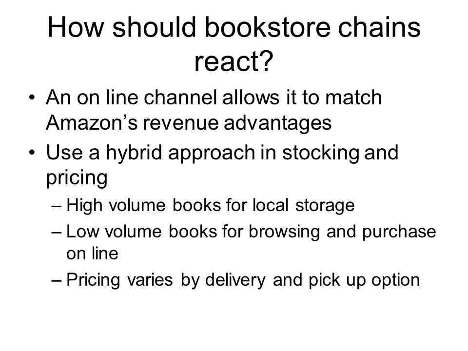 How should bookstore chains react