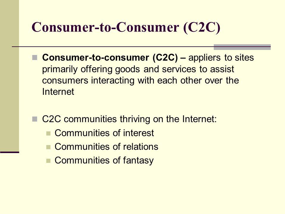 Consumer-to-Consumer (C2C)