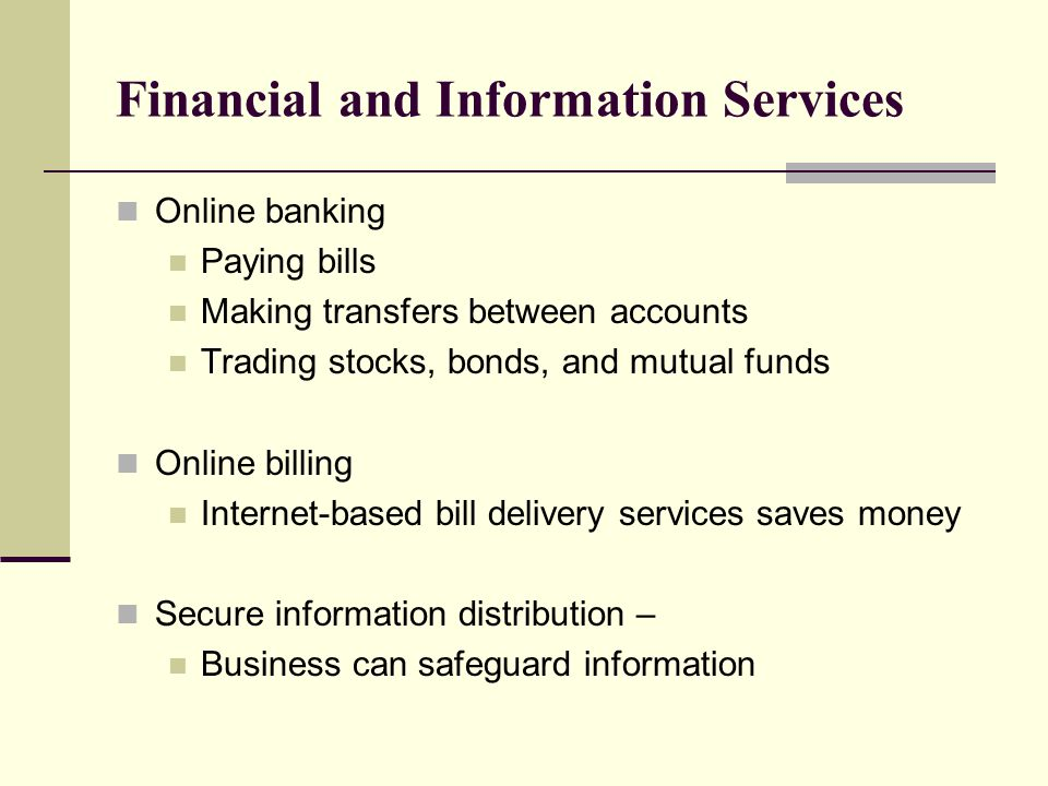 Financial and Information Services
